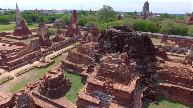 fly around ancient ruined temple fly around ancient ruined temple ,Thailand aerial view sukhothai stock videos & royalty-free footage