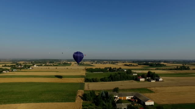 Fly away from hot air Balloon video