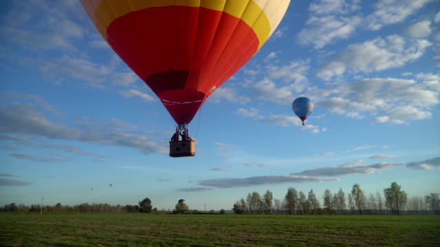 fly away on hot-air balloons video
