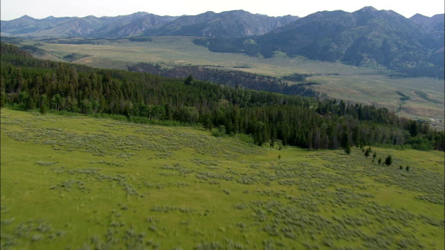 Fly Fishing On the Madison River  - Aerial View - Montana,  Madison County,  helicopter filming,  aerial video,  cineflex,  establishing shot,  United States video