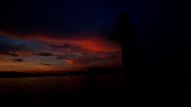 Fly fishing Silhouette video