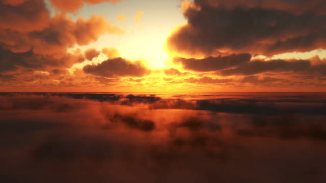 fly in clouds sunset 4k - sunset stock videos & royalty-free footage