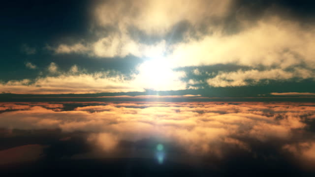 fly in sunset clouds above 4k - clouds stock videos & royalty-free footage