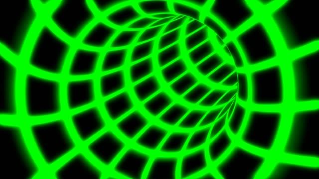 flyga inuti grön digital tunnel grid i ansluten säker datornätverk-4k sömlös loop motion bakgrund animation - vpn bildbanksvideor och videomaterial från bakom kulisserna