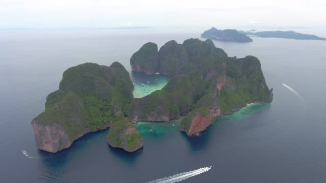 fly islands in sea - phuket video stock e b–roll