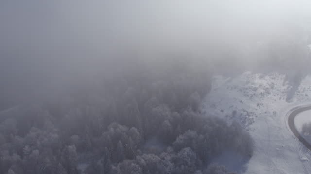 fly over cloud on mountain saleve - monte bianco video stock e b–roll