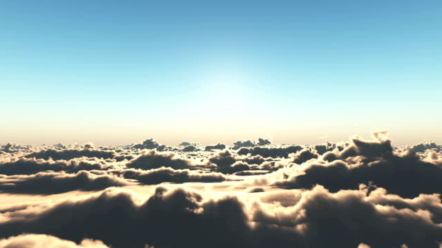 fly over clouds sunset 4k - angelo video stock e b–roll