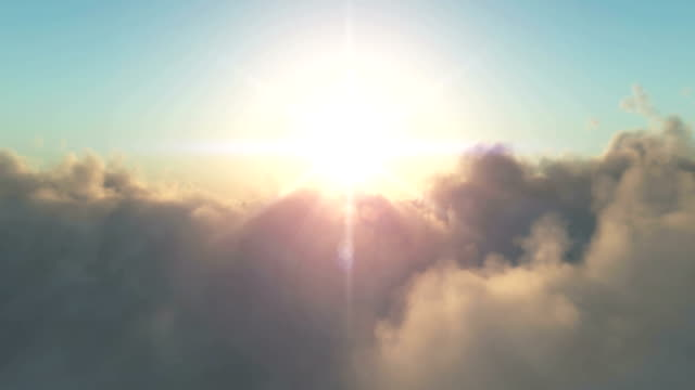 fly over clouds video