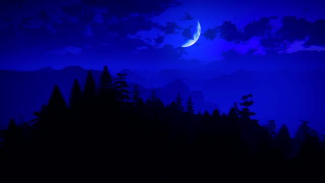 フライ、山々の夜 - 崖点の映像素材/bロール