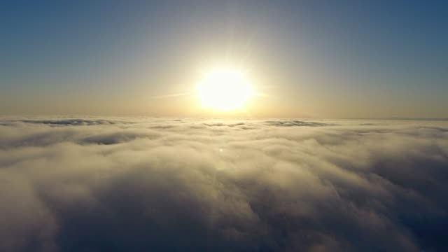 fly over the clouds