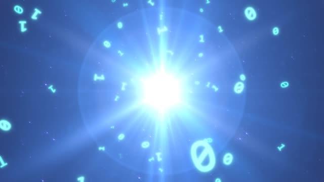 flyga genom binära koddata i blå futuristisk digital cyberrymd - 4k sömlös loop rörelse bakgrundsanimering - vpn bildbanksvideor och videomaterial från bakom kulisserna