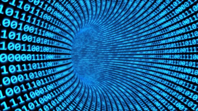 flyga genom binär kod tunnel i cyberrymden krypterade nätverks data-4k sömlös loop motion bakgrund animation - vpn bildbanksvideor och videomaterial från bakom kulisserna