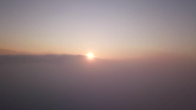 Fly Through Cloud Sunrise