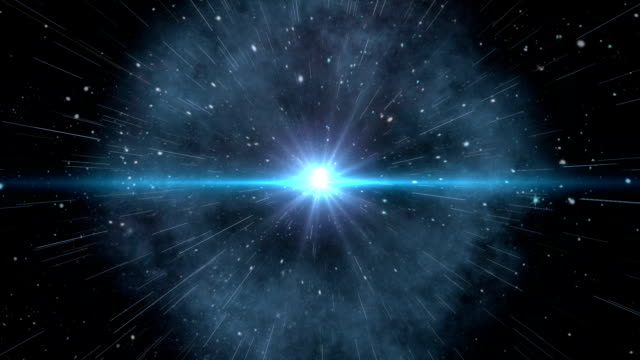 fly through in space until the earth. - big bang video stock e b–roll