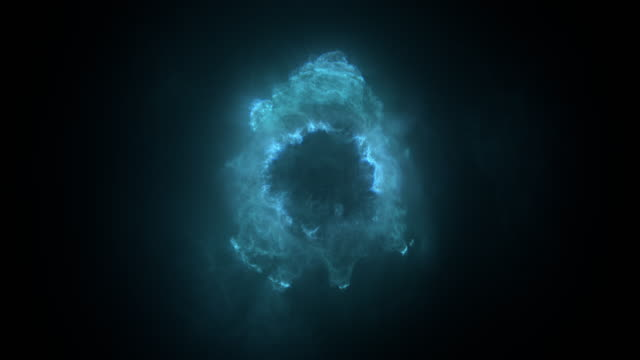 fly through: nebula in space / elementary particle / underwater plankton / fractal matter. - czarna dziura filmów i materiałów b-roll