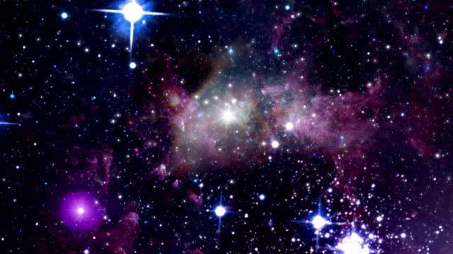 Fly Through Space Nebulas video