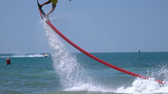 Flyboard extreme sport adventure video