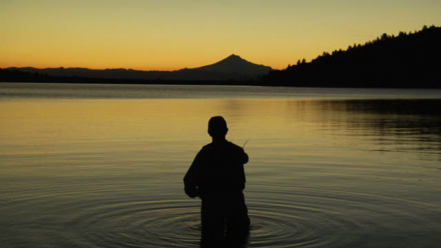 Fly-Fishing at Sunset video