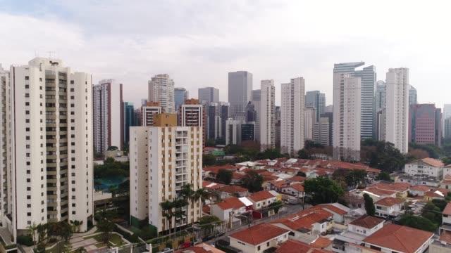 Flying above Marginal Pinheiros, Ponte estaiada At Sao Paulo, Brazil Drone Footage marginal tiete highway stock videos & royalty-free footage