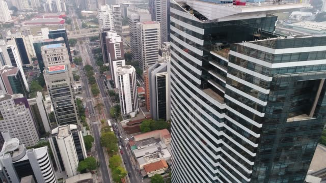 Flying above Sao Paulo city, Brazil Drone Footage marginal tiete highway stock videos & royalty-free footage