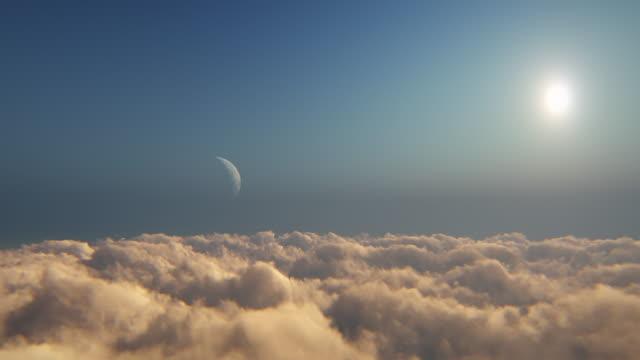 bulutların üzerinde uçmak - maneviyat stok videoları ve detay görüntü çekimi