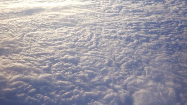 vídeos de stock e filmes b-roll de voar acima das nuvens, - fofo texturizado