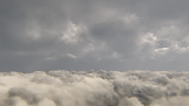 Flying above the storm clouds