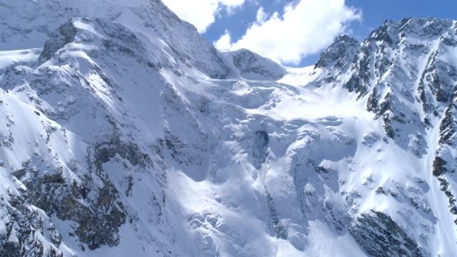 Flying approach, glacier de Tsijiore Nouve, Arolla - Aerial 4K