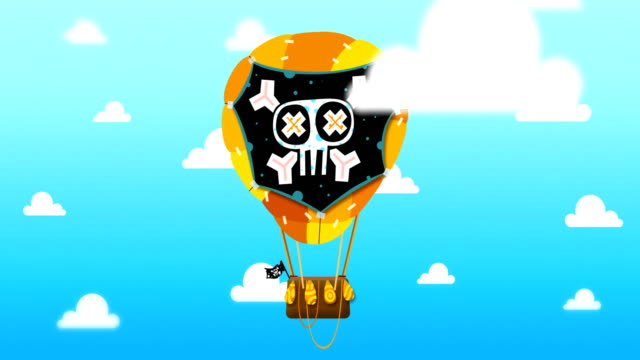 Flying Balloon in the sky video