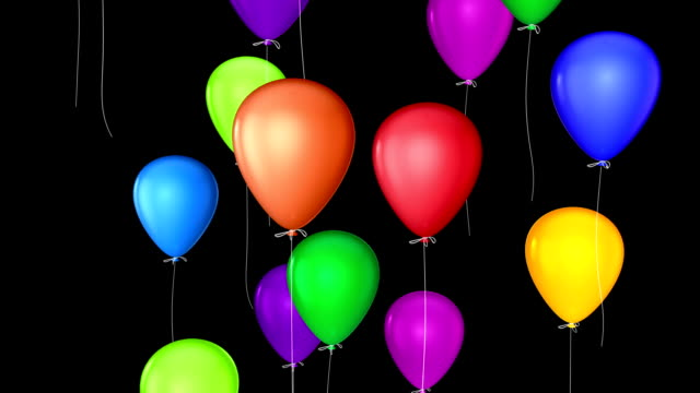 flying balloons with alpha video