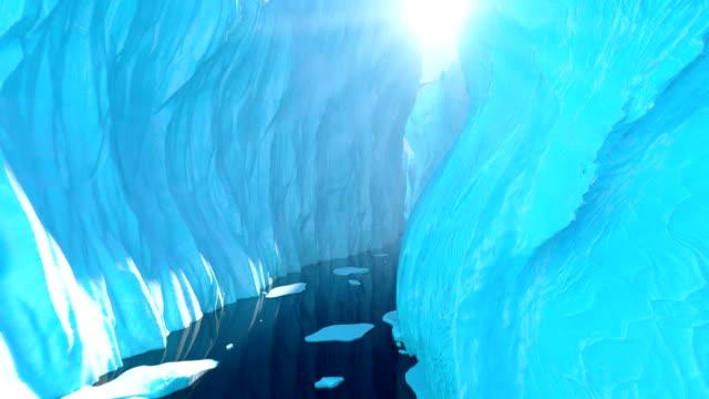 Volar entre los glaciares.  Seamless Loop - vídeo
