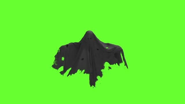 Flying black Ghost on an green screen Flying black Ghost on an green screen 4k ghost stock videos & royalty-free footage