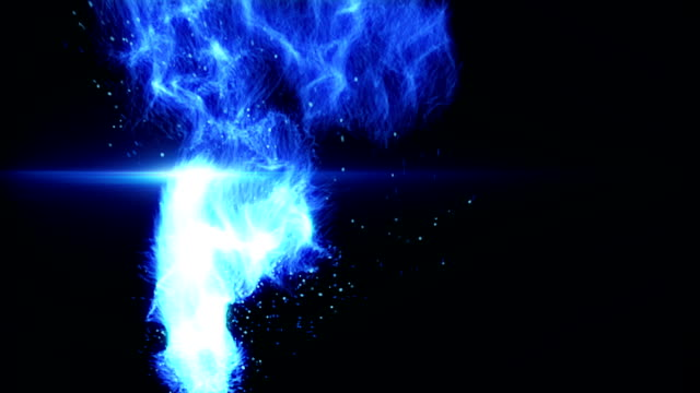 flying blue plasma ball loop video