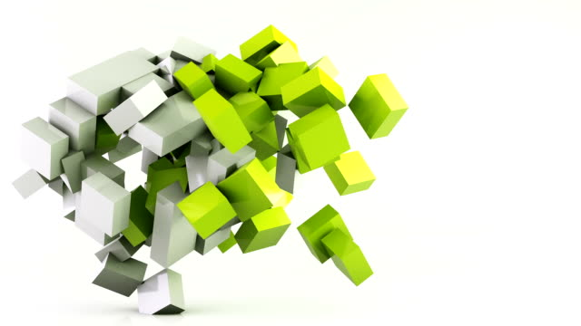 vidéos et rushes de fond d'animation cubes volants - cube