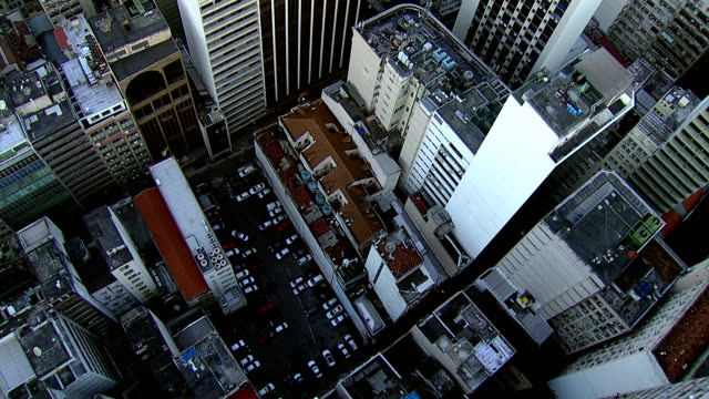 Flying directly over city buildings, Rio de Janerio video