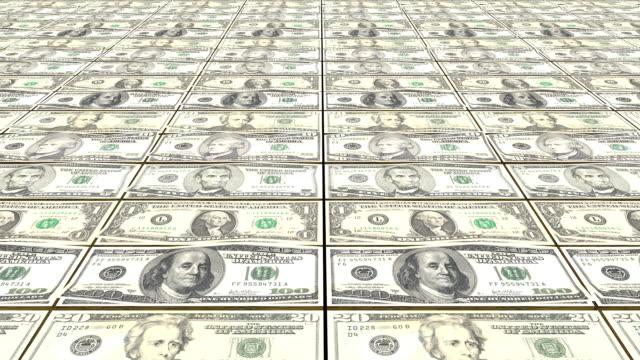 fliegende dollar. abstrakte endlos wiederholbar hintergrund - lotto stock-videos und b-roll-filmmaterial
