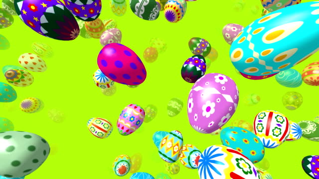 Flying easter eggs video