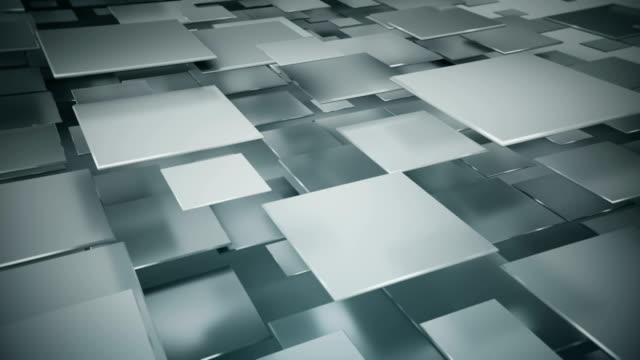 grauen quadrate nahtlose schleife fliegen 3d animation rendern - rechteck stock-videos und b-roll-filmmaterial
