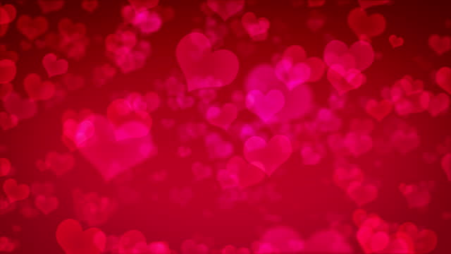 Flying hearts background video