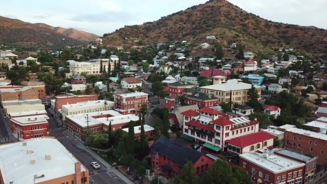 Flying In downtown Bisbee Arizona at 5:30 in the morning