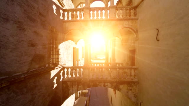 flying into the sun light nostalgic building romantic old fly over