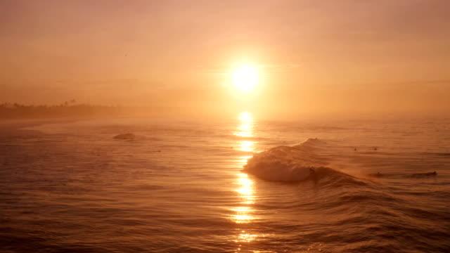 vídeos de stock e filmes b-roll de flying into the sunset: sri lanka surf scene - sri lanka
