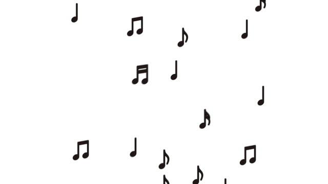 vidéos et rushes de notes musicales volantes - compositeur