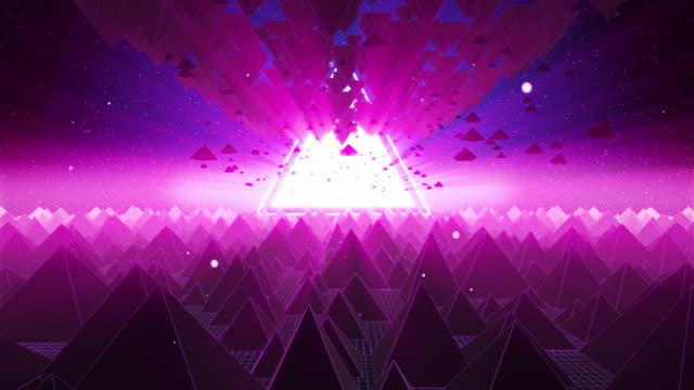 stockvideo's en b-roll-footage met vliegen op pyramid network 01 - floral line
