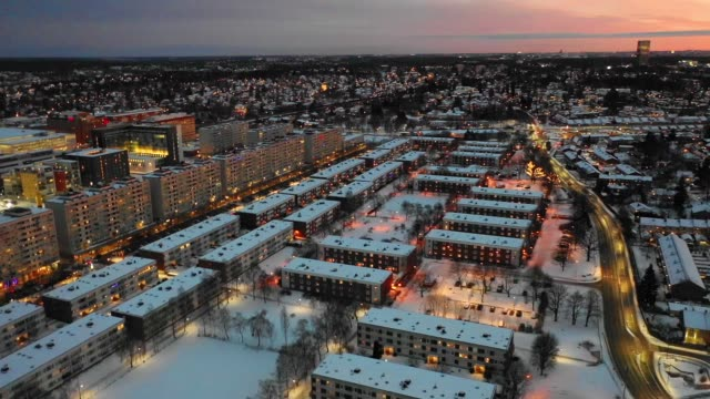 flyger över staden på natten - sweden bildbanksvideor och videomaterial från bakom kulisserna