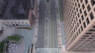 istock Flying over empty downtown street during Coronavirus pandemic 1215572796