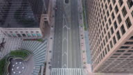 istock Flying over empty downtown street during Coronavirus pandemic 1215572796
