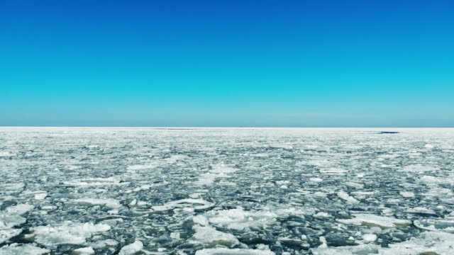 flying over floating sea ice on sunny day flying over floating sea ice on sunny day baltic countries stock videos & royalty-free footage