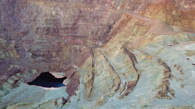 Flying over Lavender Mine In Bisbee Arizona