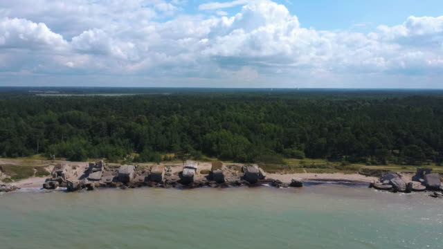Flying Over Liepaja War Port, Latvia North Pole, Old Forts Baltic Sea.